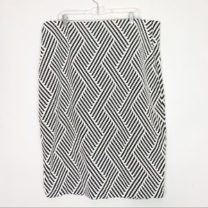 Lane Bryant Pencil Skirt Black White Size 22